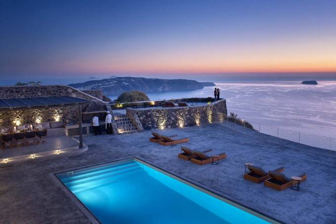 Santorini luxury villa Lorena in Megalochori