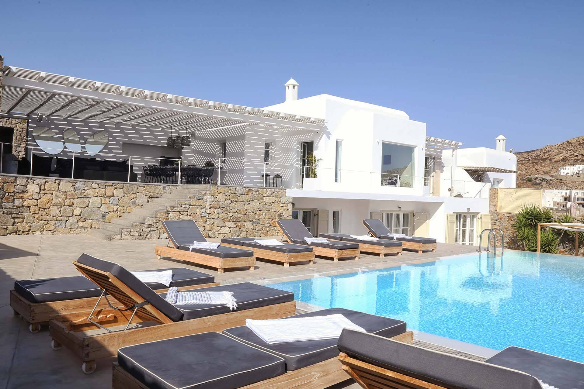 Mykonos luxury villa Poseidon in Elia