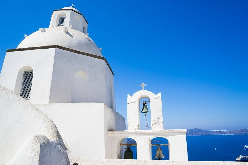 Greek Easter in Santorini island